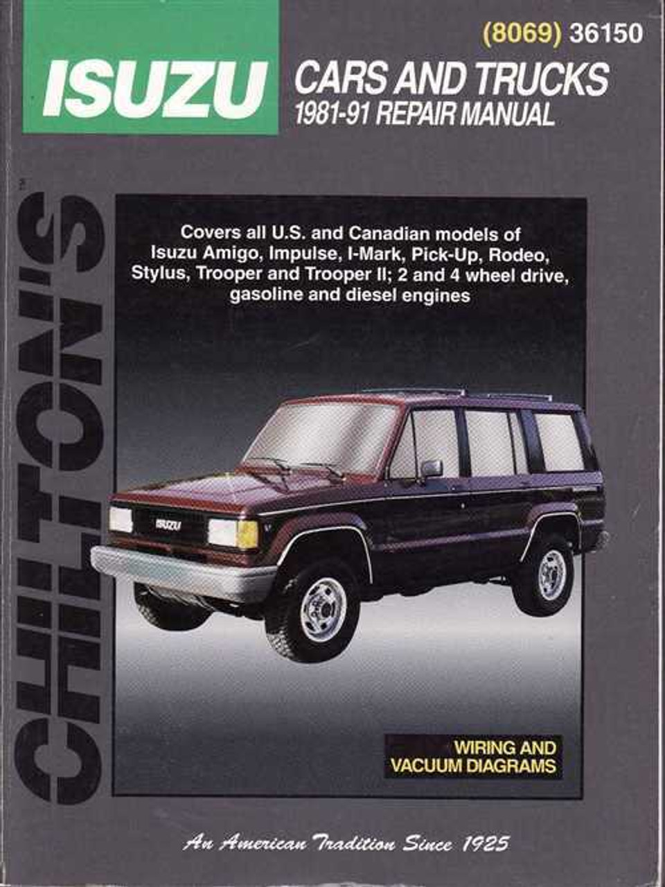 Holden (Isuzu) Cars and Trucks 1981 - 1991 Workshop Manual