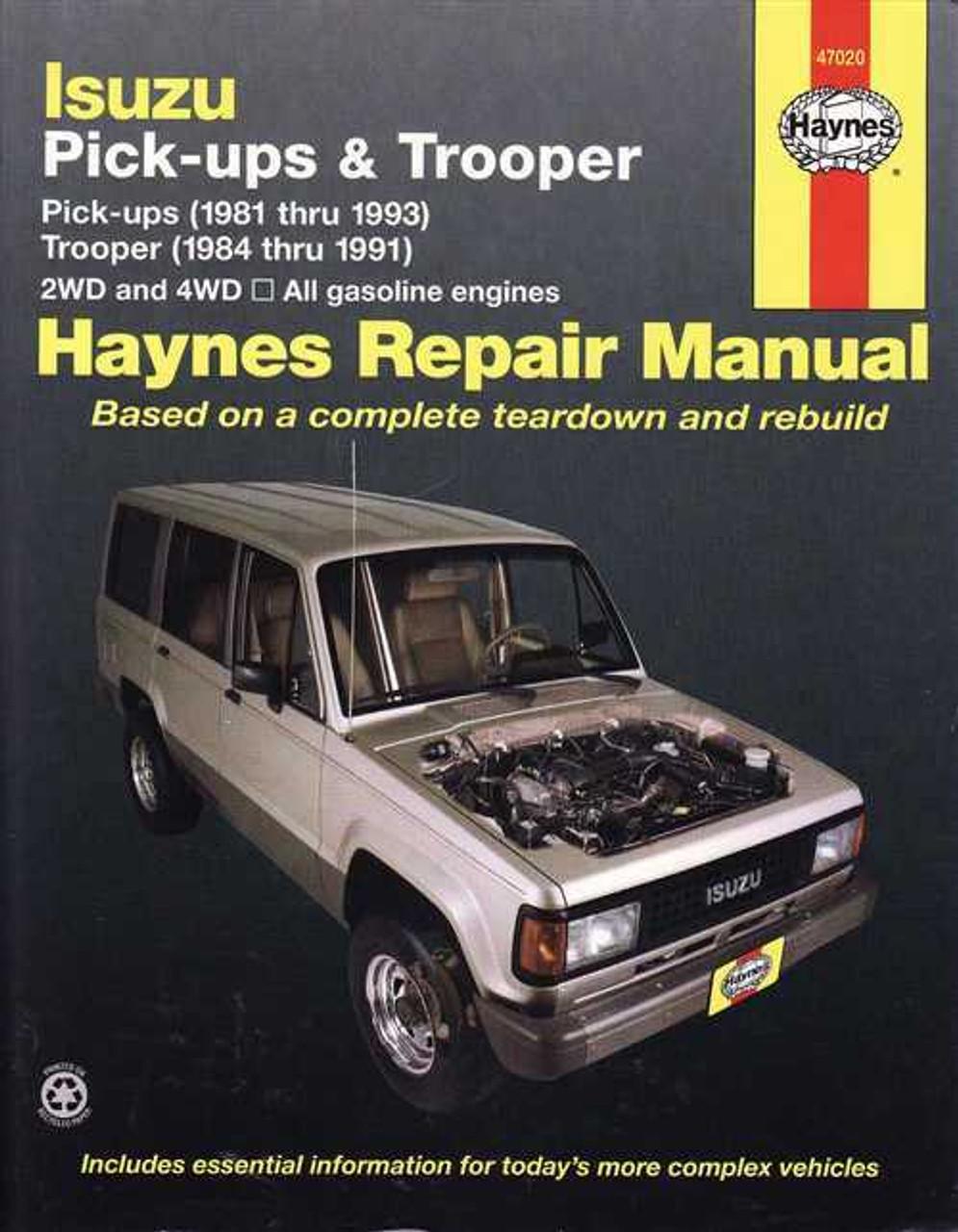 Holden Rodeo Jackaroo Isuzu Pick Up Trooper 1981 1991 Workshop