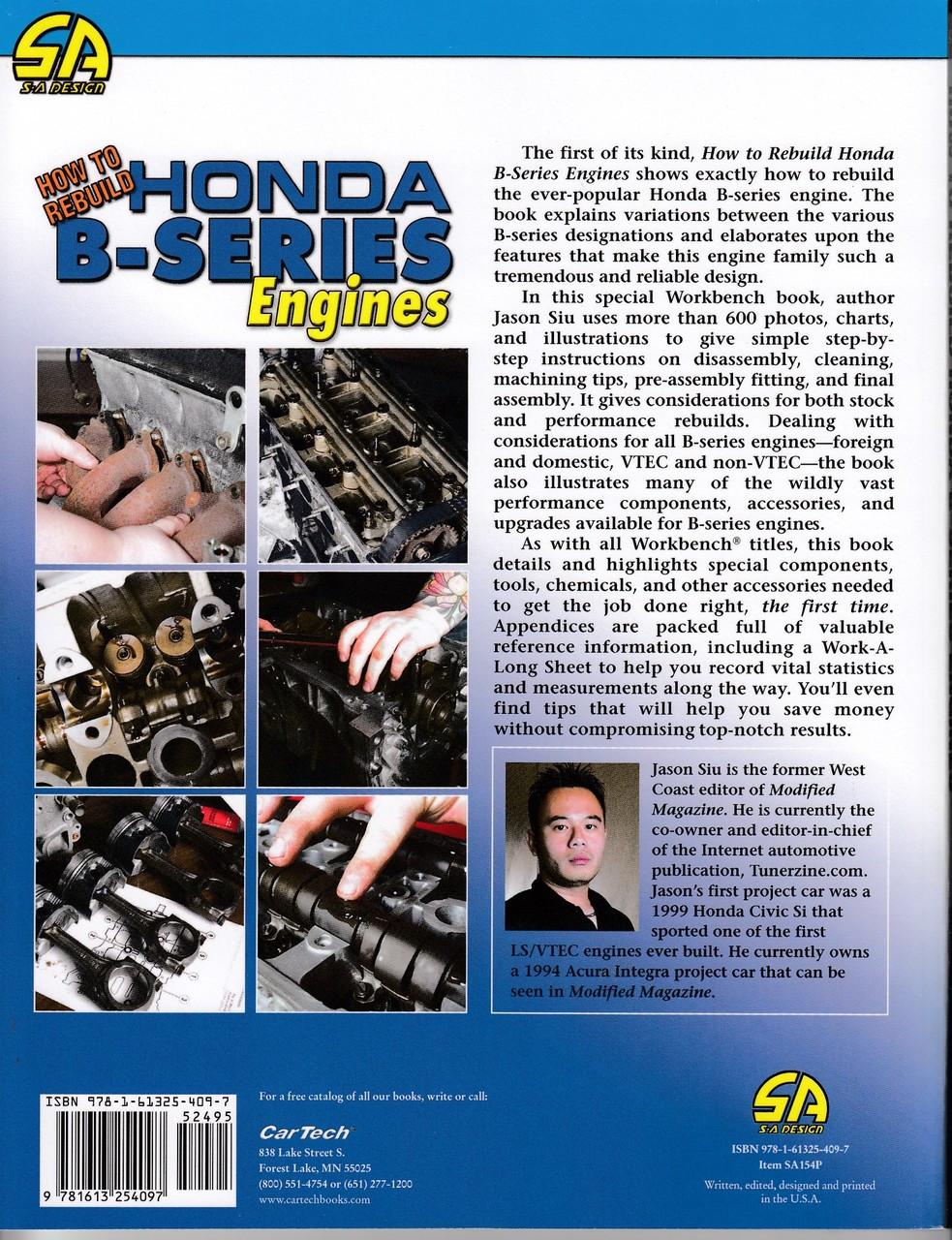 how to rebuild a honda b series engine