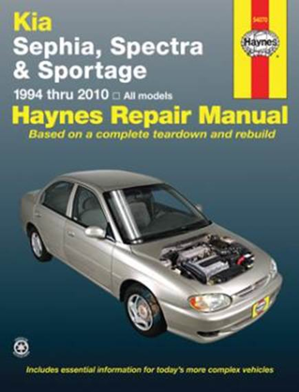Kia Sephia and Spectra (Mentor / Sportage) 1994 - 2010 Workshop Manual