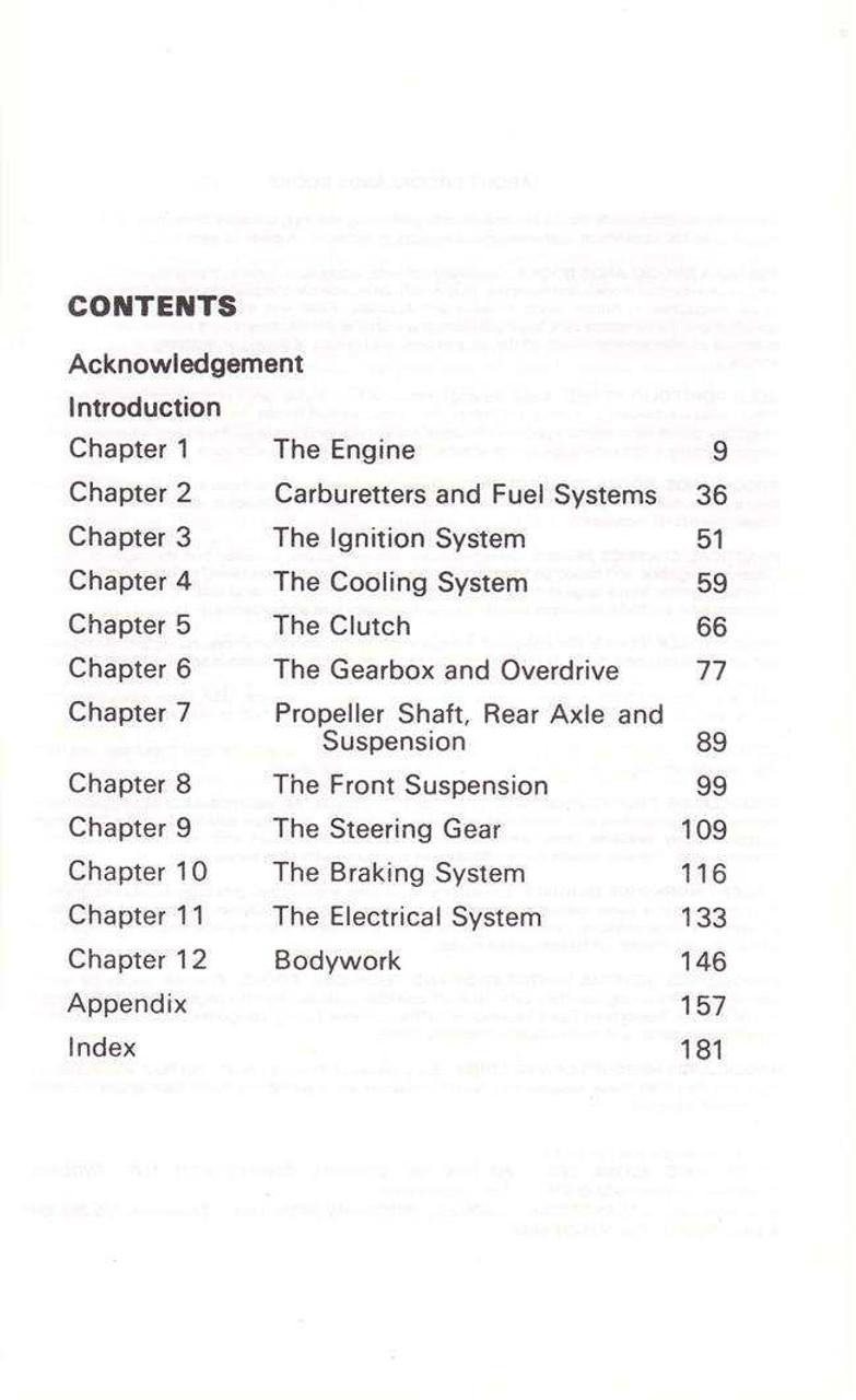 MGA and MGB 1955 - 1968 Glovebox Workshop Manual