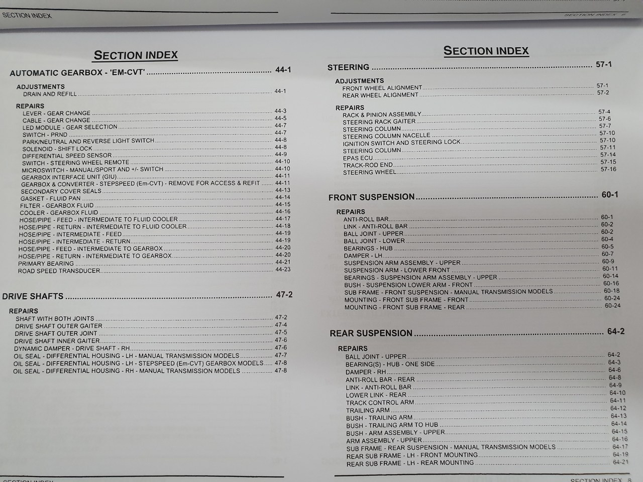MG TF Workshop Manual