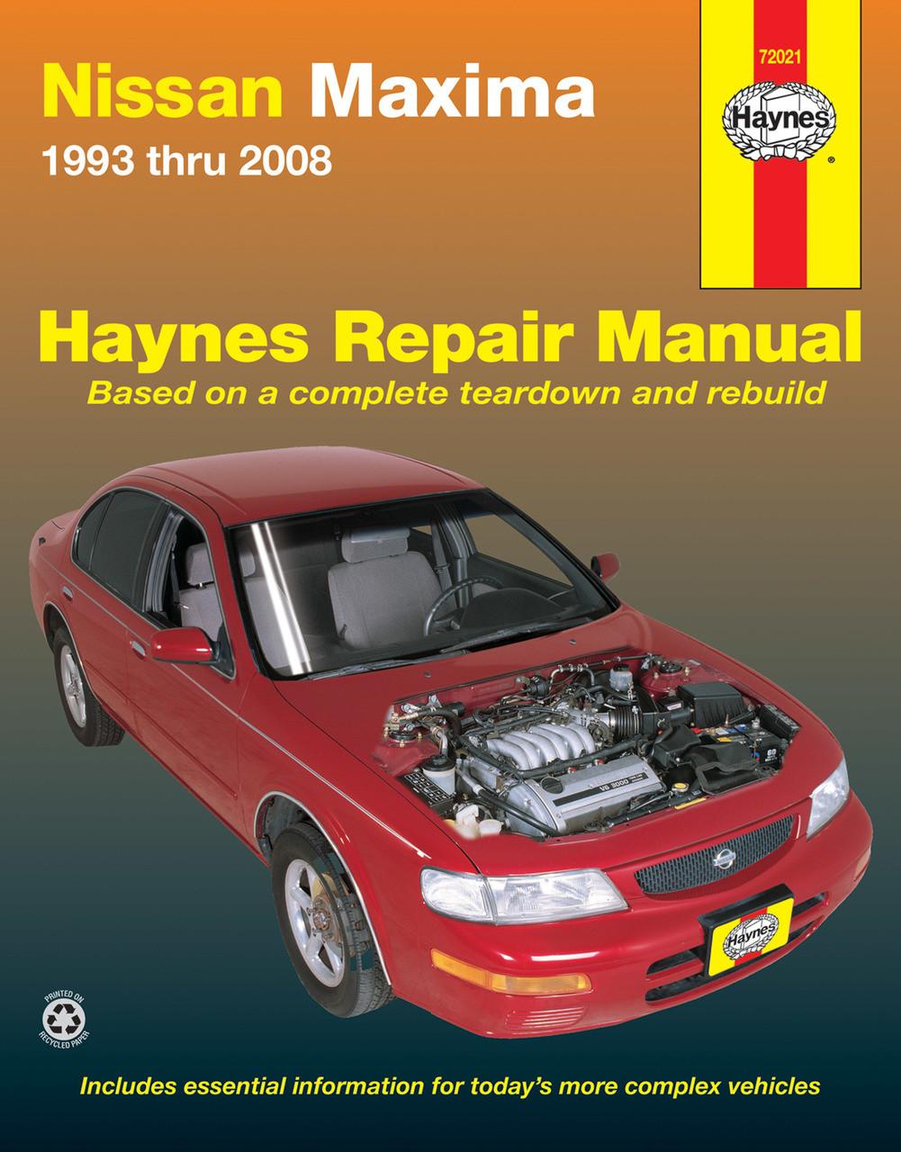 Nissan Maxima 1993 2004 Workshop Manual