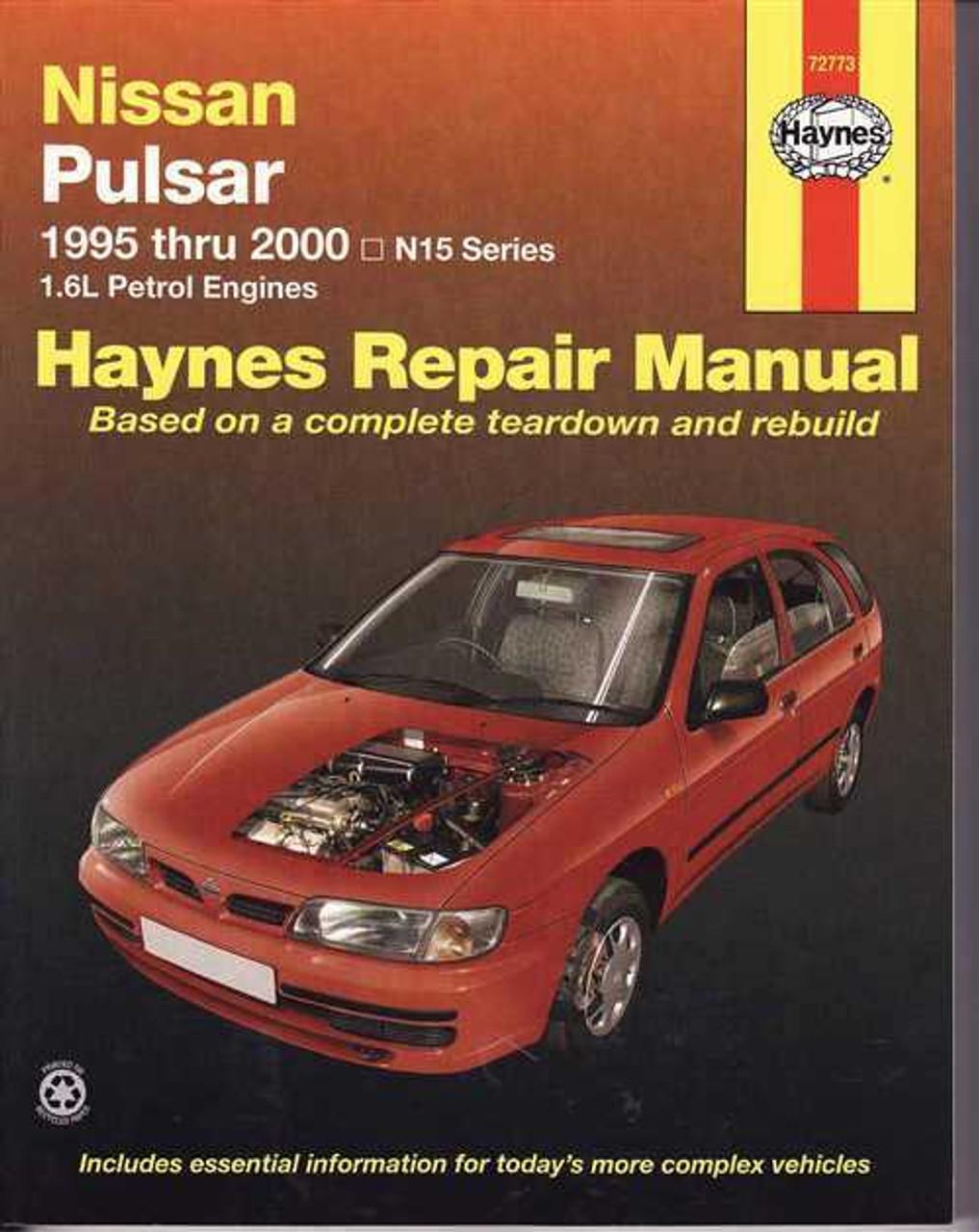 nissan pulsar 1986 1995 factory service repair manual pdf