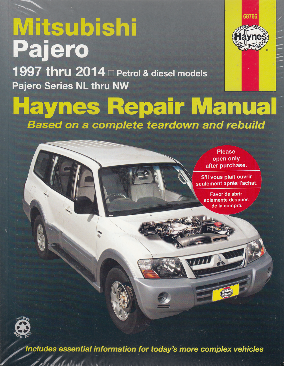 Mitsubishi Pajero NL, NM, NP, NS, NT, NW,petrol and diesel 1997 - 2014  Workshop Manual