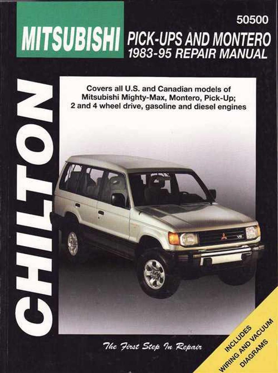 Mitsubishi Pick-Ups and Montero 1983 - 1995 Workshop Manual