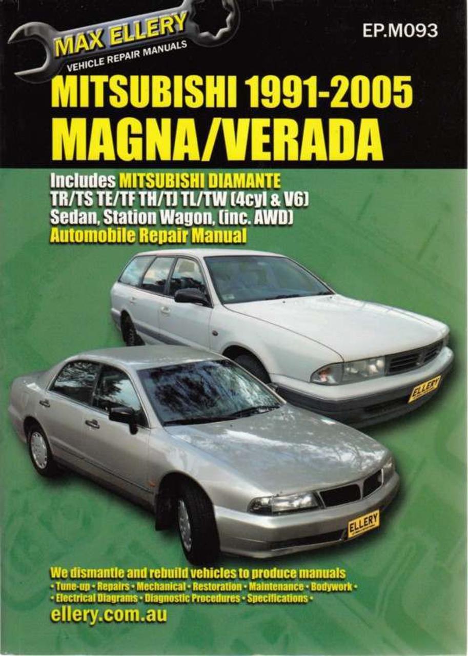 mitsubishi magna verada 1996 2005 full service repair manual