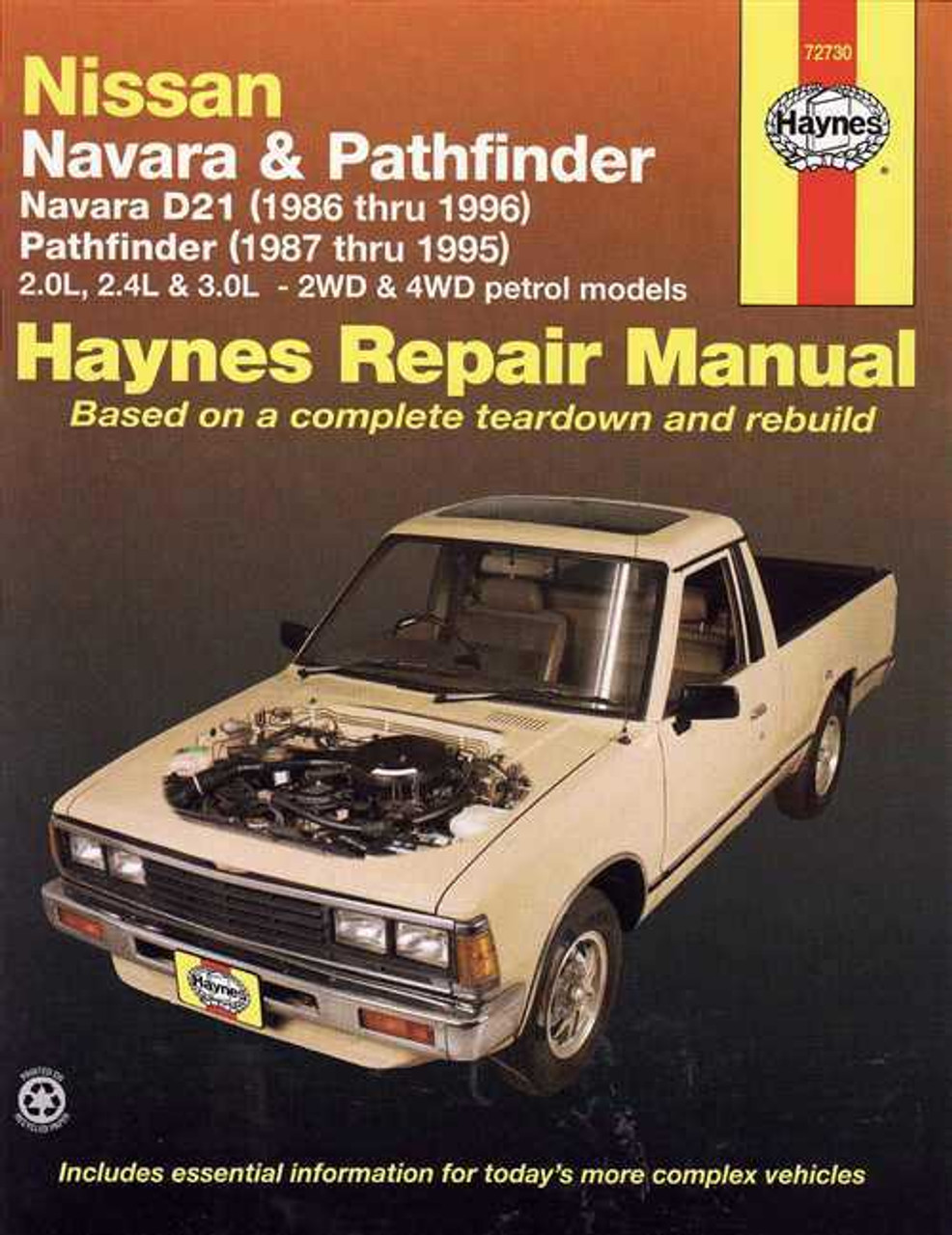nissan pick ups and pathfinder 1989 95 chilton total car care series manuals