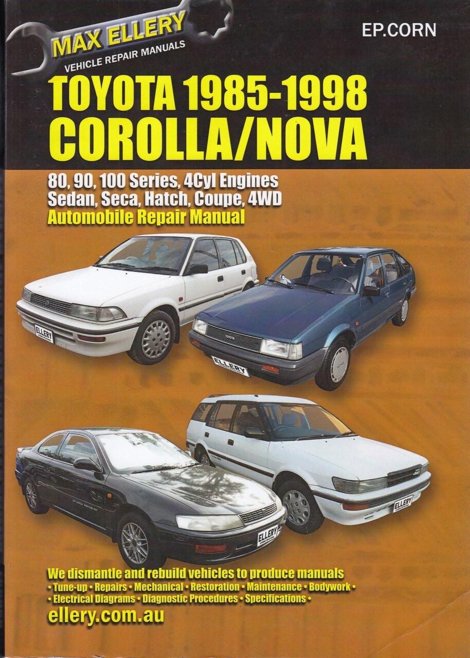 Toyota Corolla Amp Holden Nova 1985 1998 Workshop Manual
