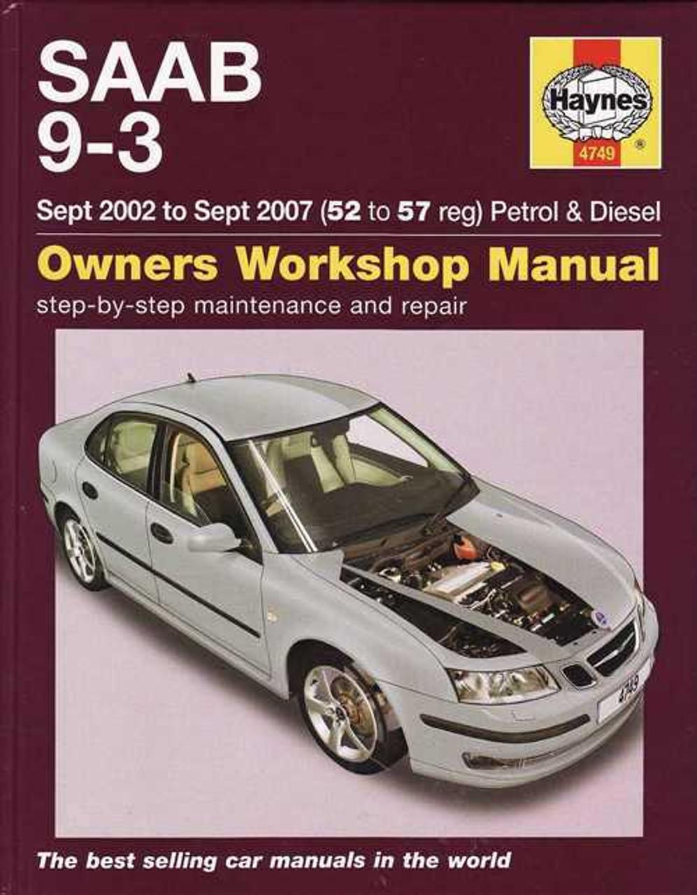 saab 9-3 convertible service manual