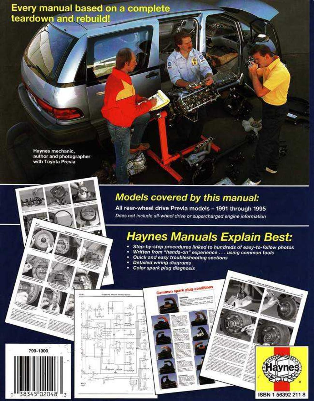 Toyota Tarago (Previa) 1991 - 1995 Workshop Manual