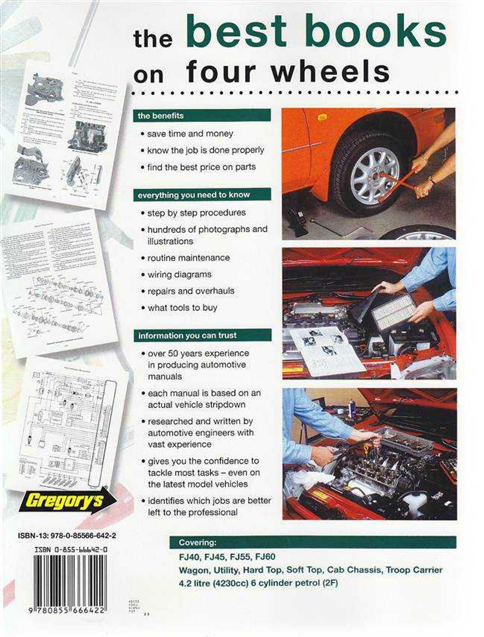 toyota land cruiser fj series fj40, fj45, fj55, fj60 1975 - 1984 workshop  manual