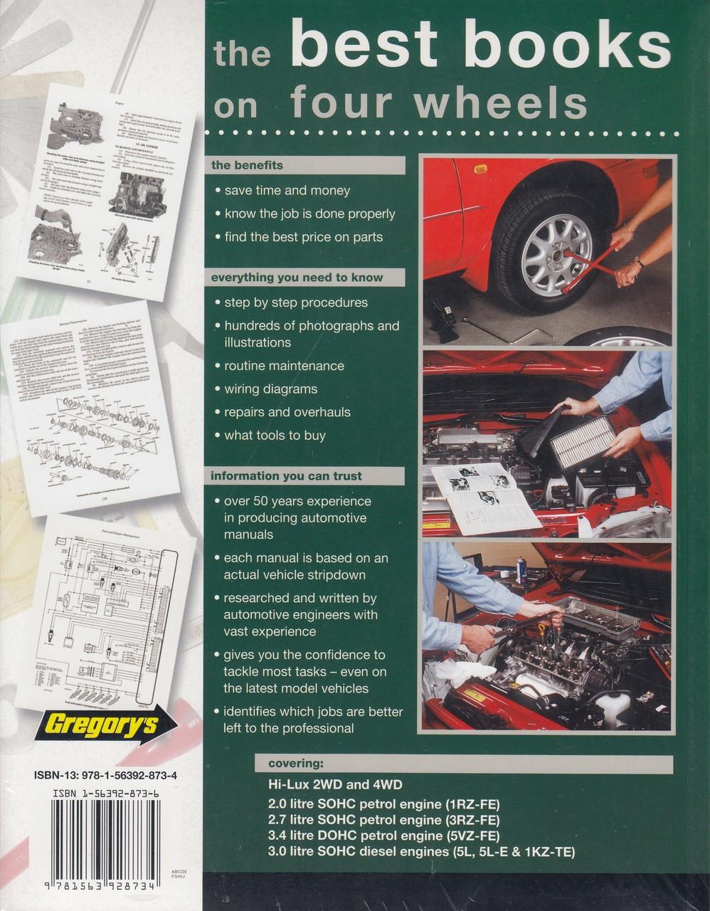 Toyota Hi-Lux 2WD, 4WD Diesel, Petrol LN Series 1997 - 2005 Workshop Manual