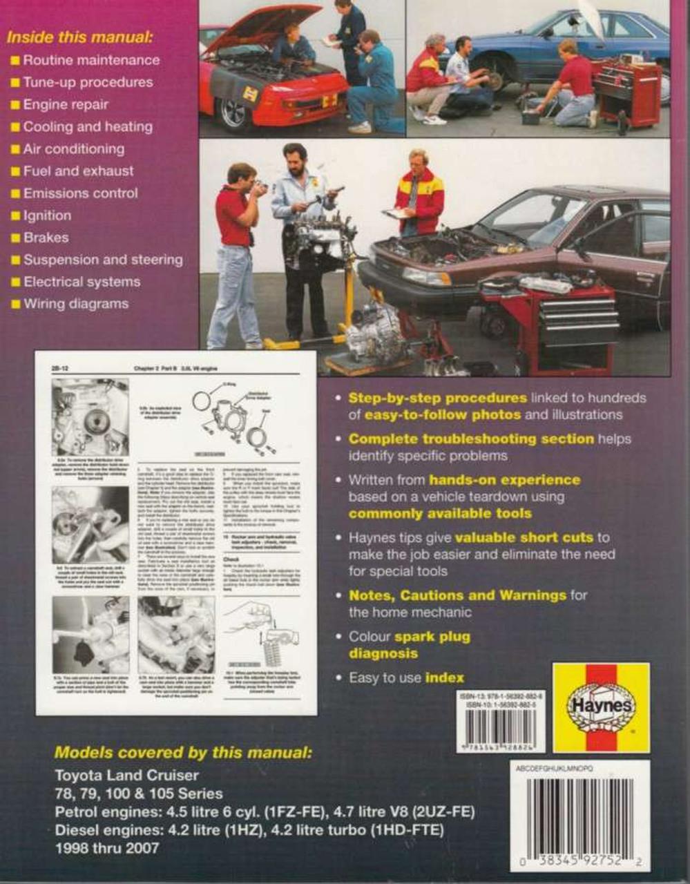 1998 Land Cruiser V8 Engine Diagram