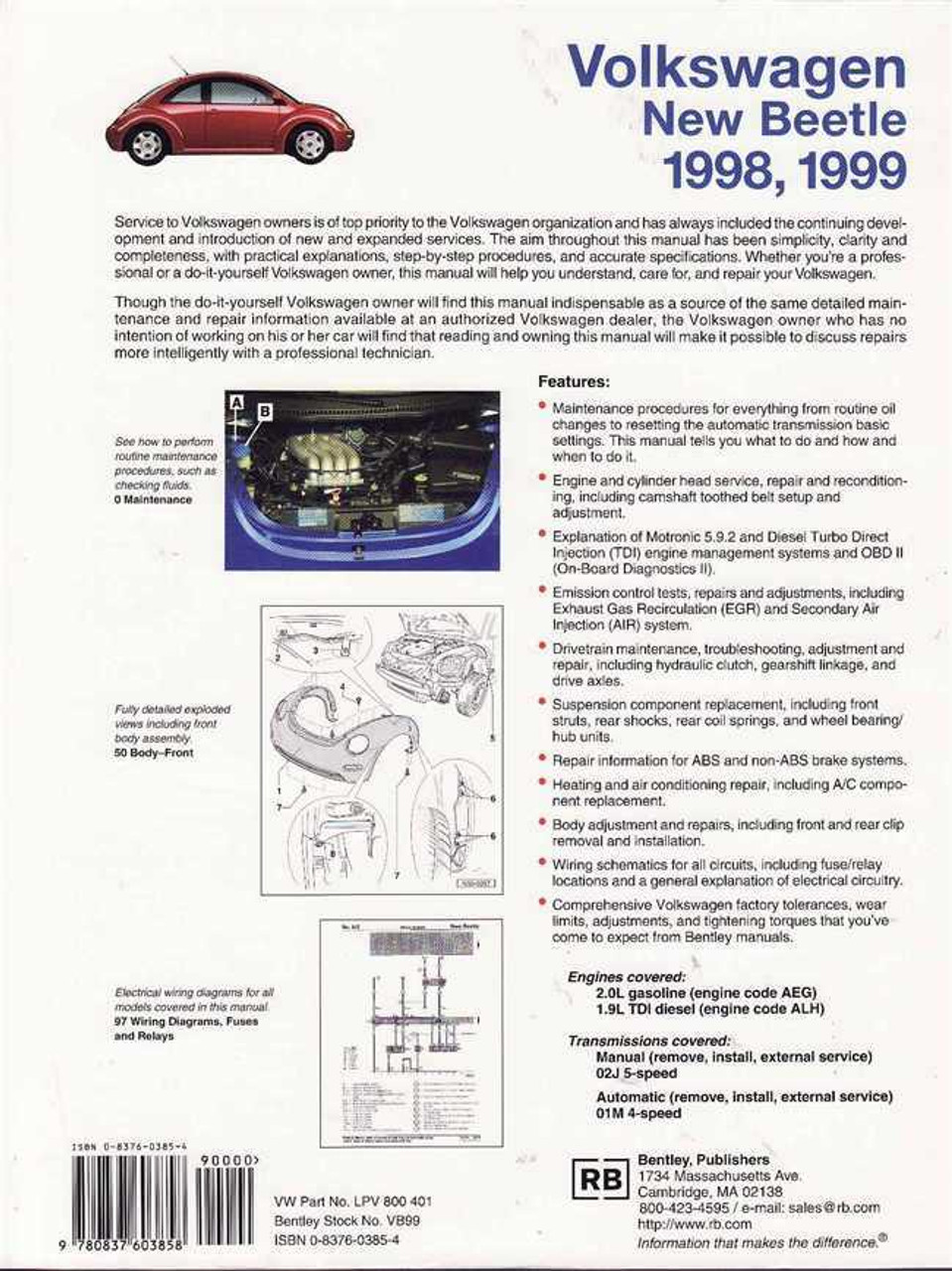 Volkswagen New Beetle 1998 - 1999 Workshop Manual
