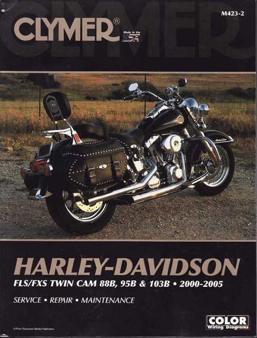 Harley-Davidson FLS/FXS TWIN CAM 88B, 95B and 103B 2000 - 2005 Workshop on