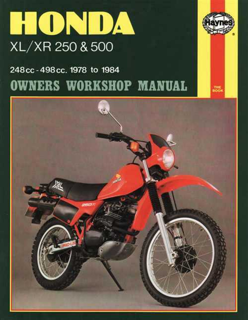 honda xr250r 1996 2004 factory repair workshop manual