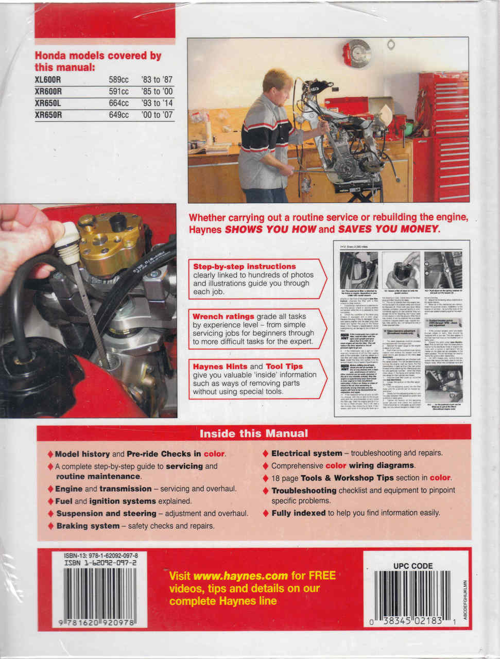 Honda XL600R, XR600R, XR650L, XR650R 1983 - 2014 Workshop Manual