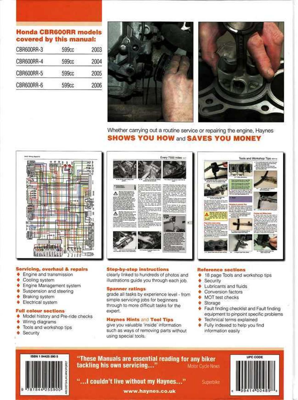 Honda Cbr600rr 2003 2006 Workshop Manual