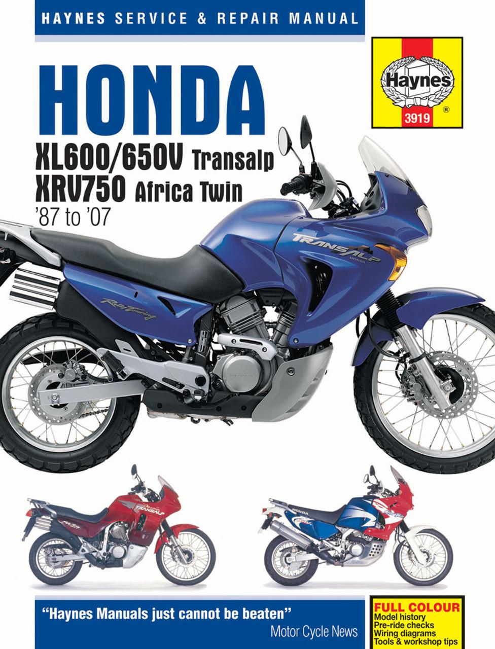 Stupendous Honda Xl600 650V Transalp Xrv750 Africa Twin 1987 2007 Wiring 101 Taclepimsautoservicenl