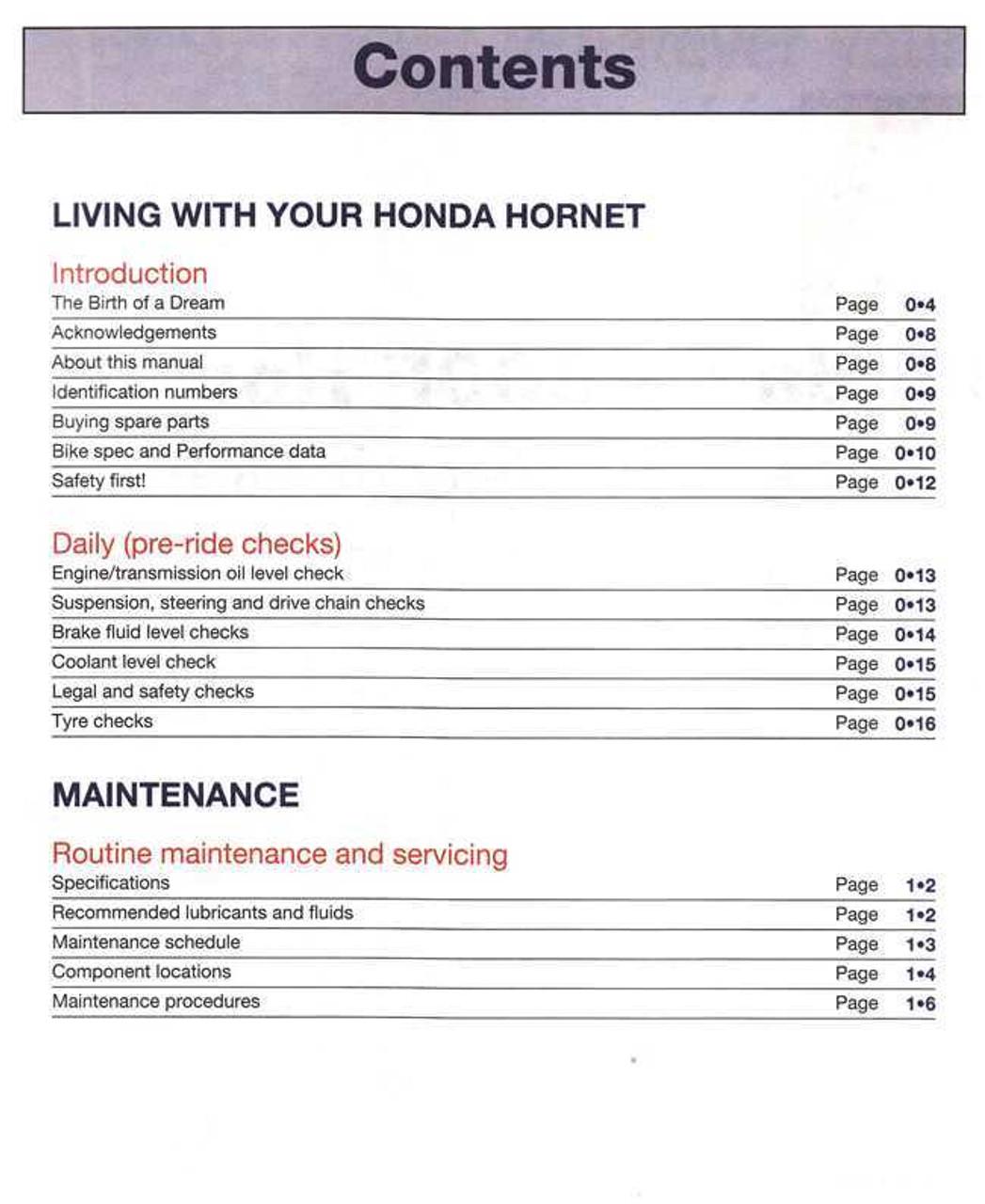 honda cb600f hornet 2004 2005 2006 service repair manual