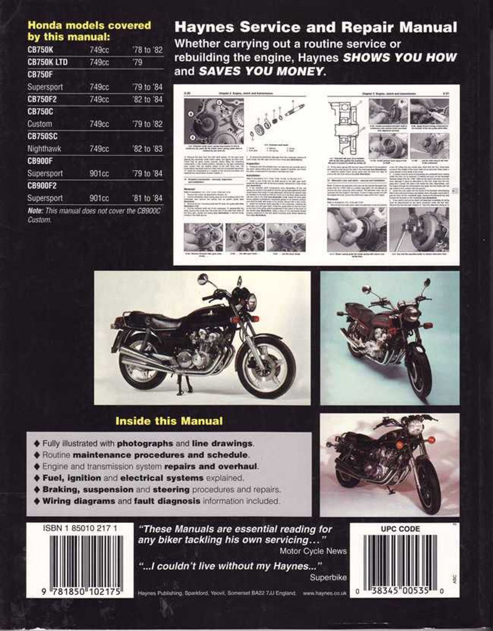 Phenomenal Honda Cb750 Amp Cb900 Dohc Fours 1978 1984 Workshop Manual Wiring Cloud Geisbieswglorg