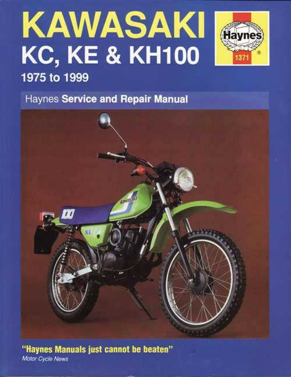 Kawasaki KC100, KE100 and KH100 1975 - 1999 Workshop Manual on