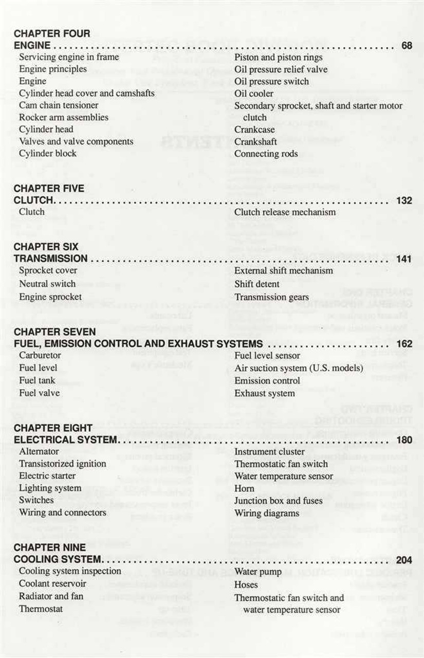 Kawasaki ZX500 and ZX600 Ninja 1985 - 1997 Workshop Manual