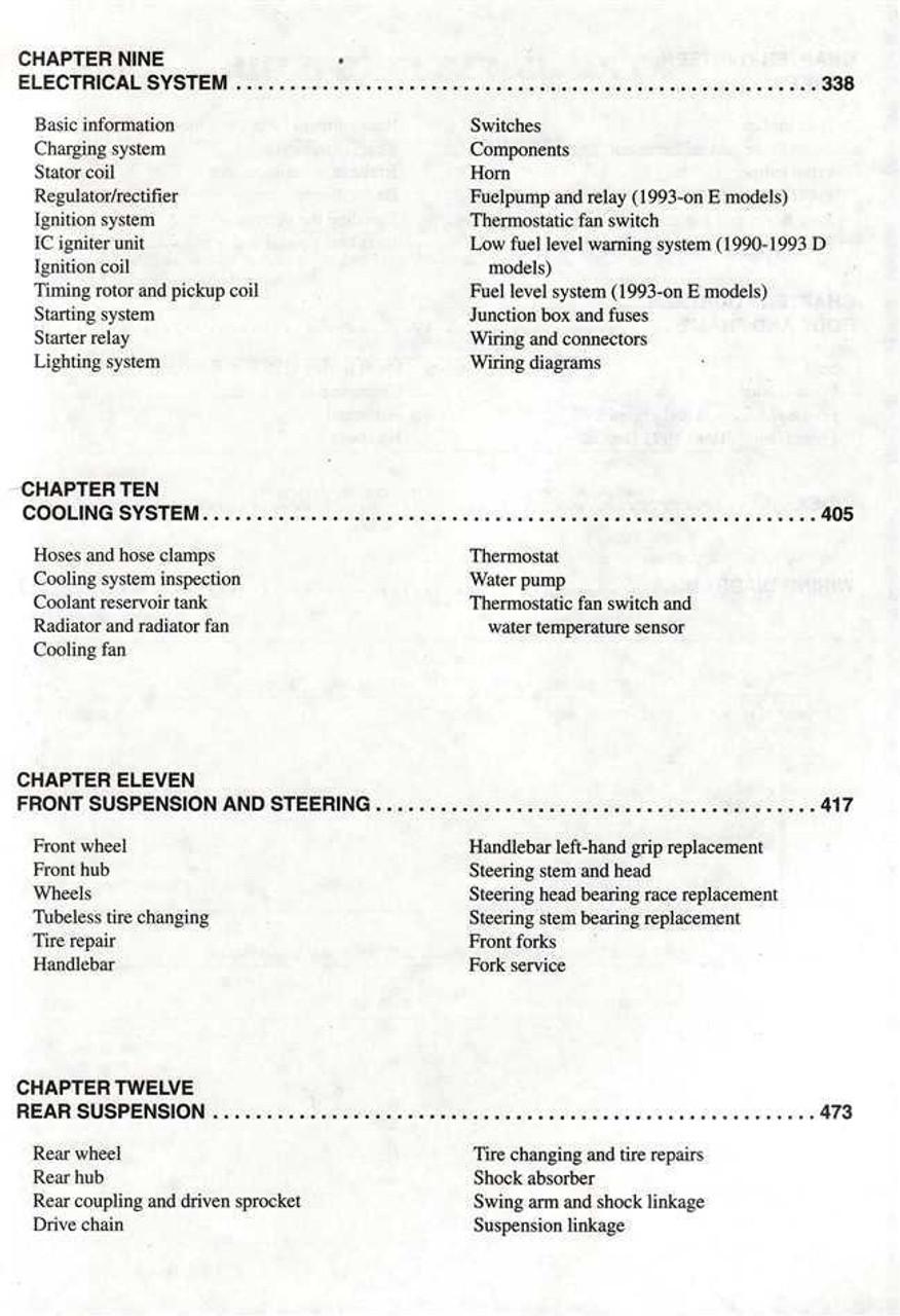 kawasaki ninja zx 6r 1998 repair service manual