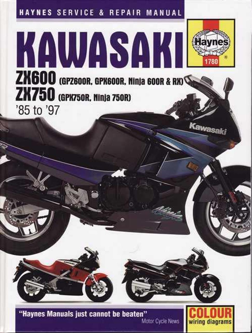 Kawasaki ZX600 GPZ600R GPDX600R Ninja 600R RX ZX750 GPX750R Ninja 750R on