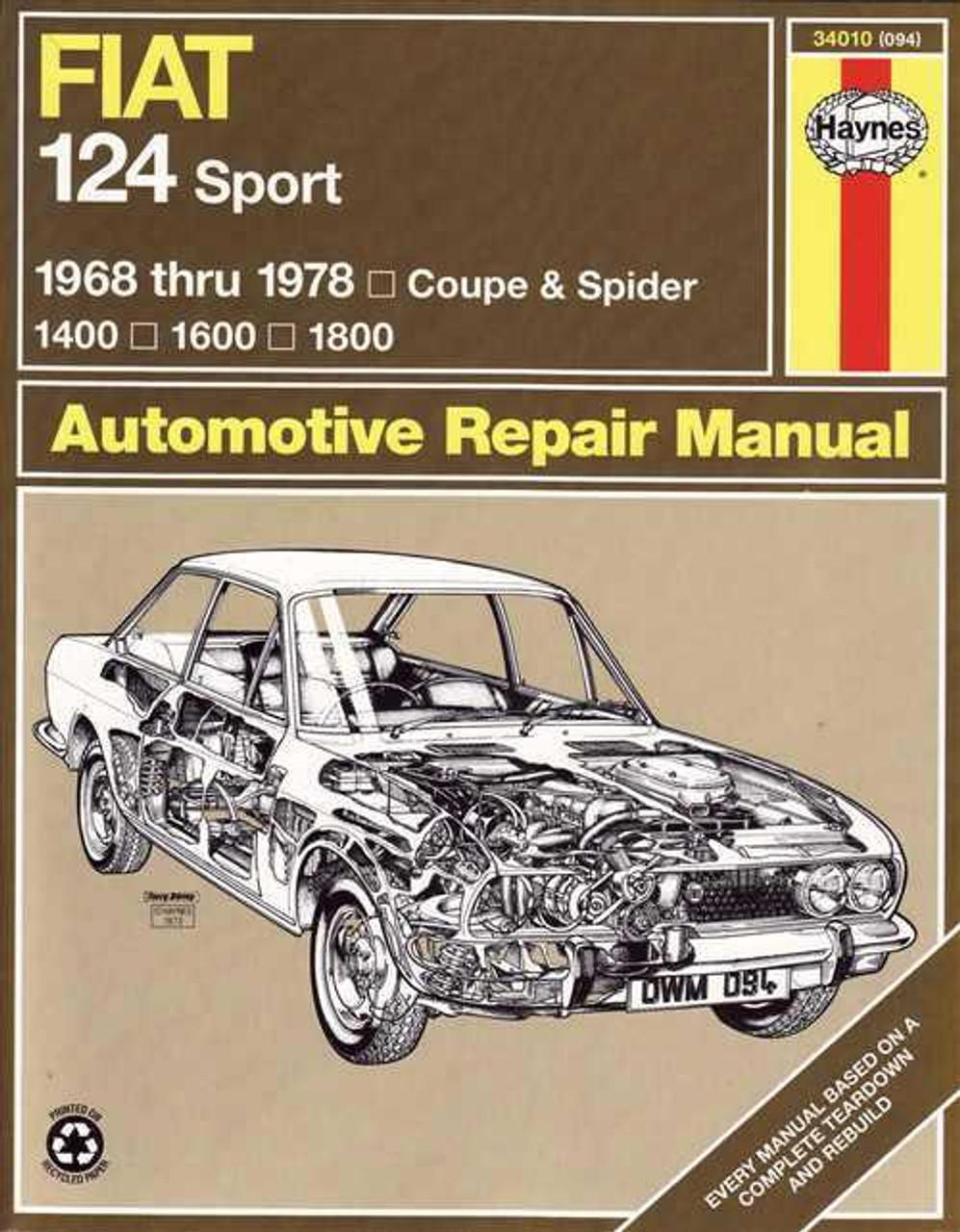 fiat 124 spider service manual