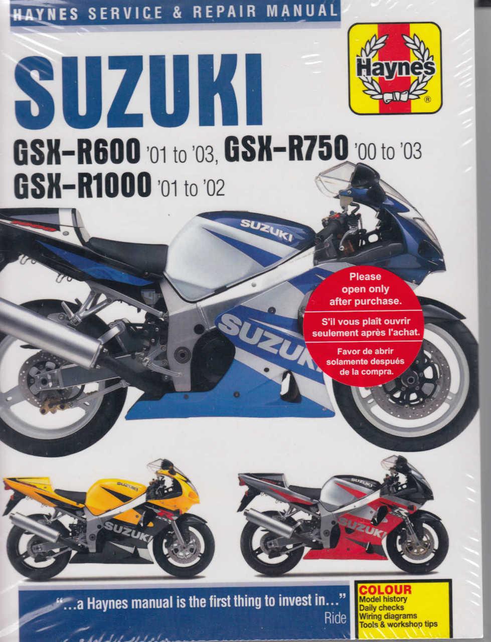 suzuki gsx r600, r1000, r750 2000 2003 workshop manual wiring gsx diagram suzuki 1997 r600v