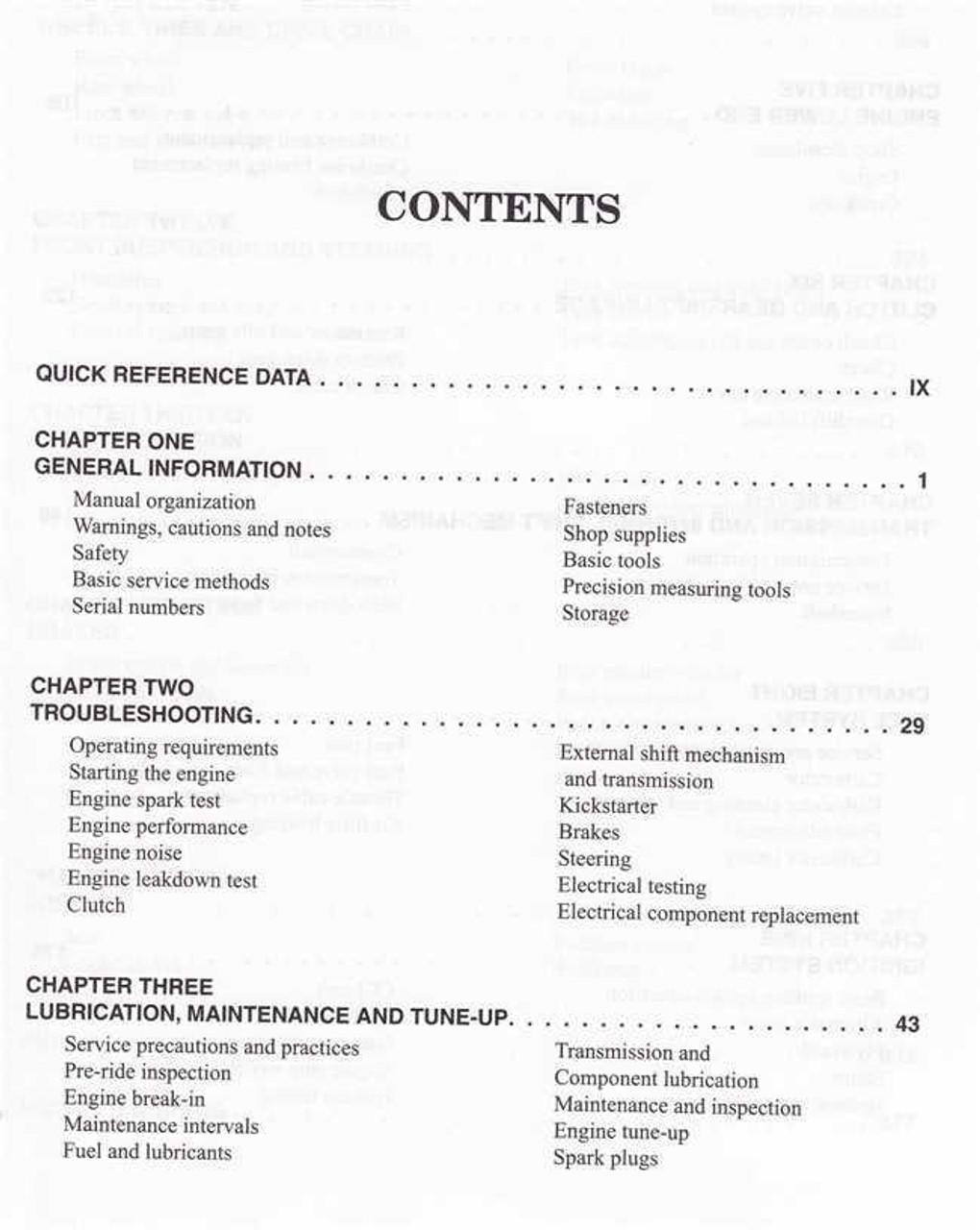 Suzuki RM250 1996 - 2002 Workshop Manual
