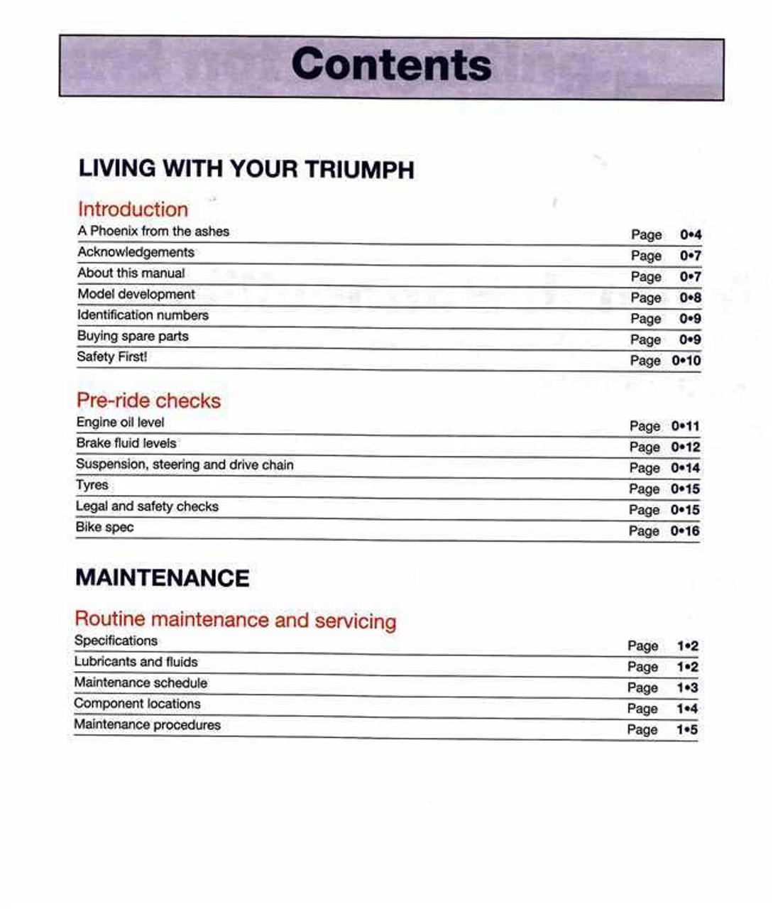 triumph speedmaster 2004 repair service manual