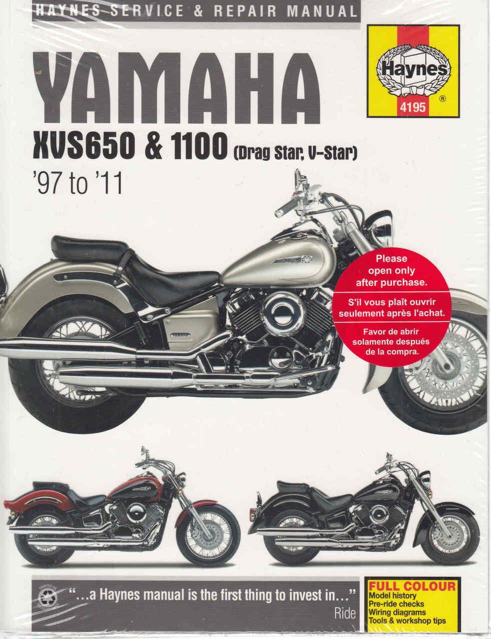 Yamaha Xvs Wiring Diagram on