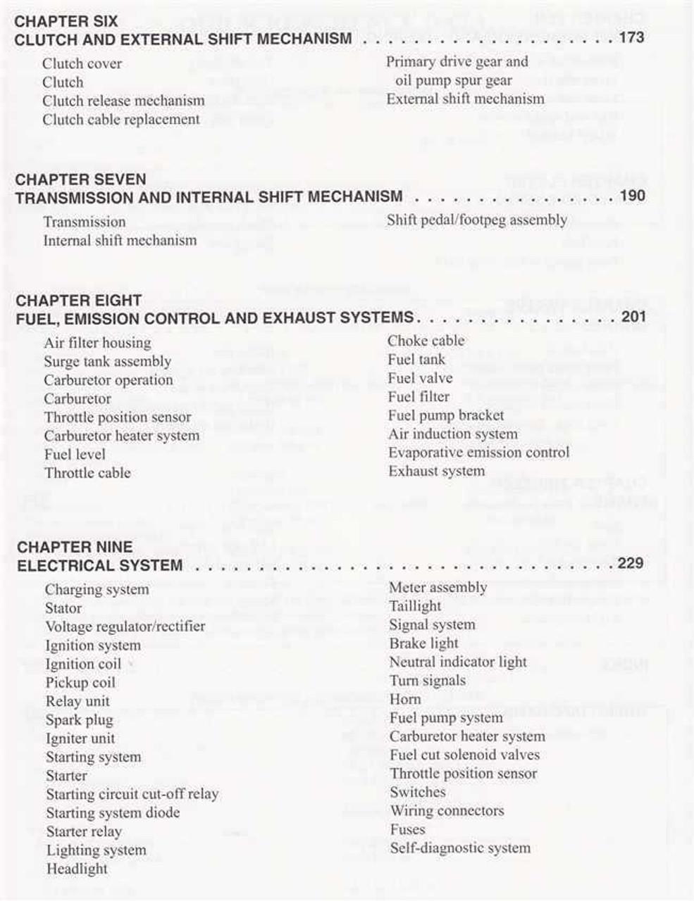 Yamaha V-Star 650 Classic, Custom, Silverado 1998 - 2011 Workshop Manual