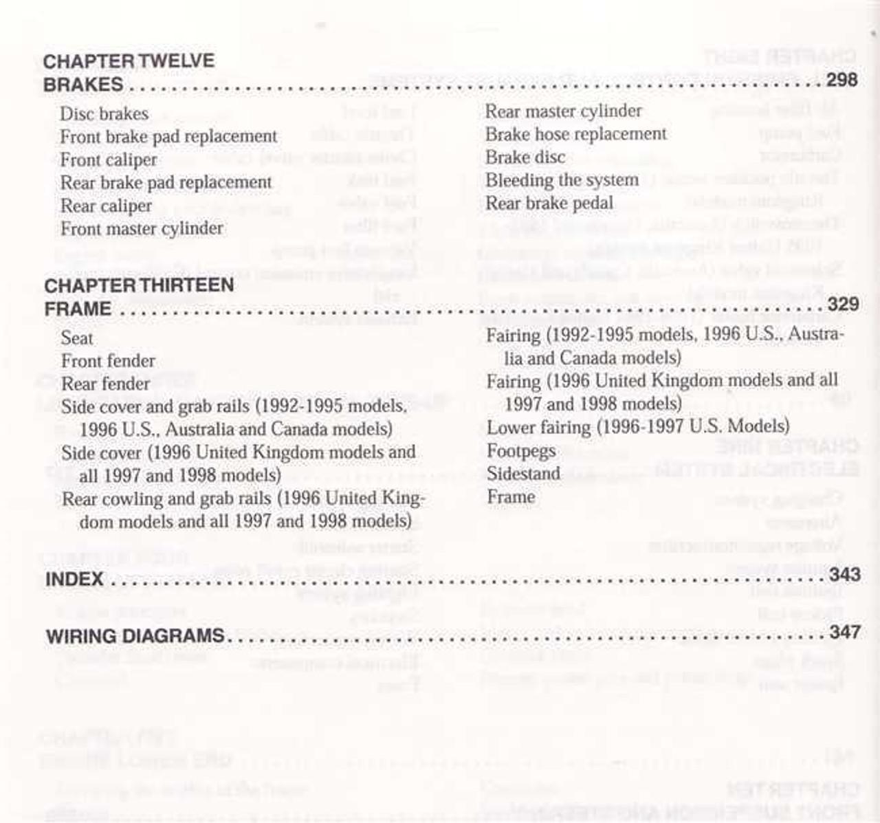 Yamaha XJ600 Seca II, Diversion 1992 - 1998 Workshop Manual on
