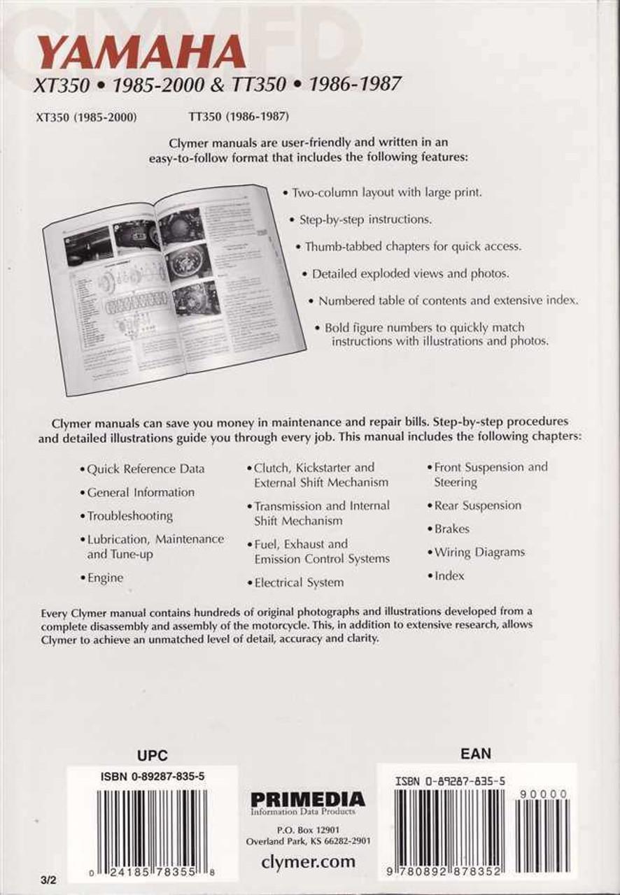 Yamaha Xt350 Wiring Diagram - Catalogue of Schemas on