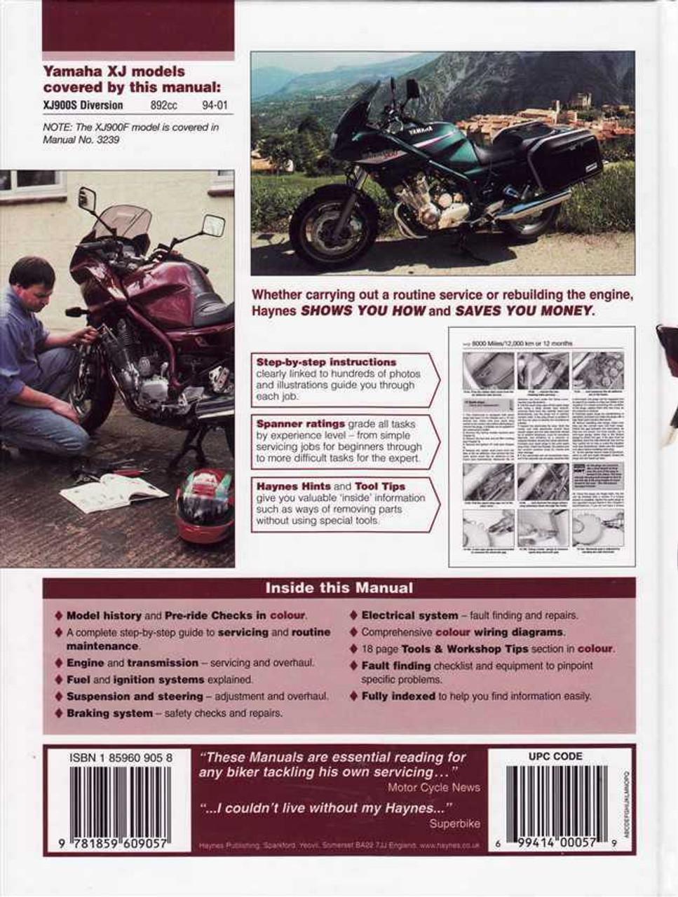 Yamaha Xj900s Diversion 1994 2001 Workshop Manual