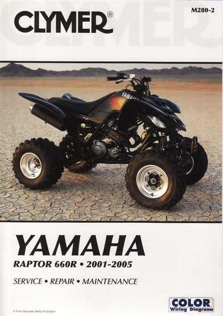 Yamaha Raptor 660R ATVs 2001 - 2002 Workshop Manual on