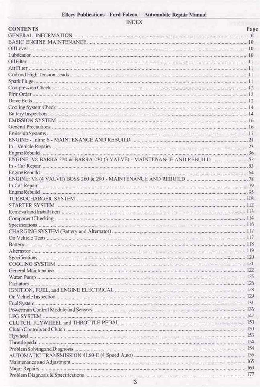 ford falcon ea workshop manual download