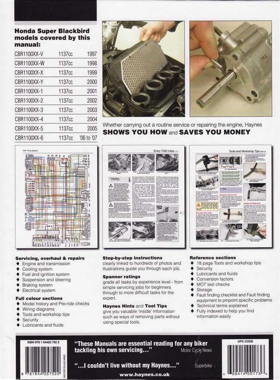 Honda Cbr1100xx Super Blackbird 1997 2007 Workshop Manual