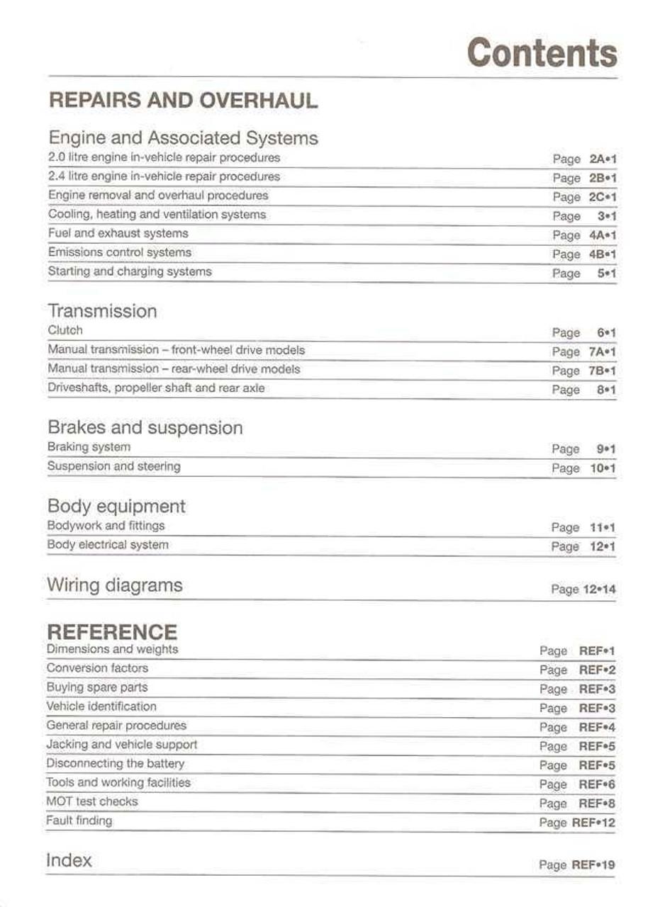 ford transit 2006 repair manual