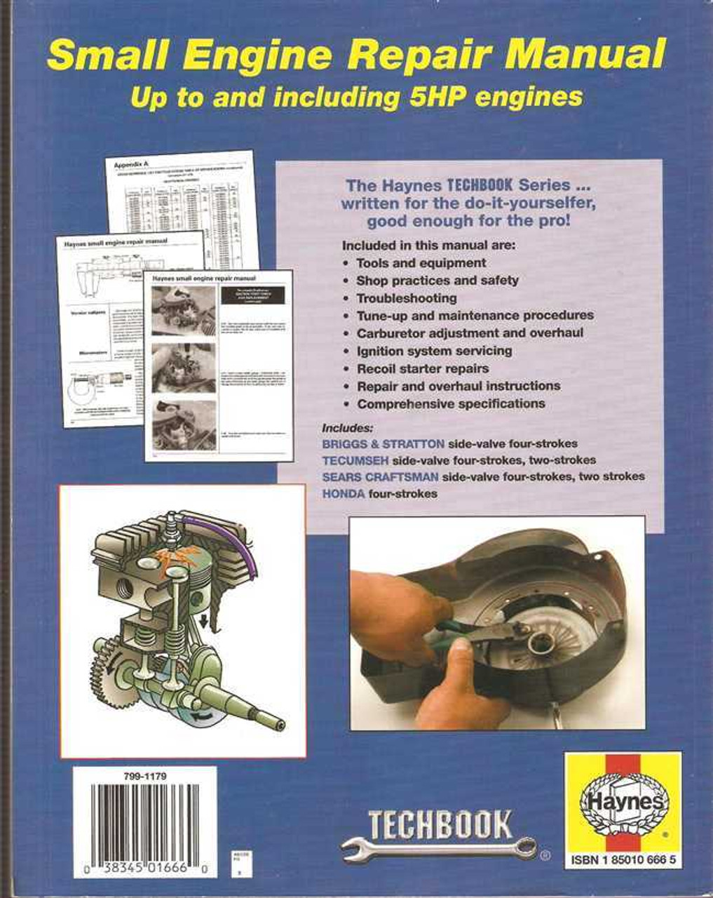 Small Engine Repair up to and including 5 HP - (Techbook Series)