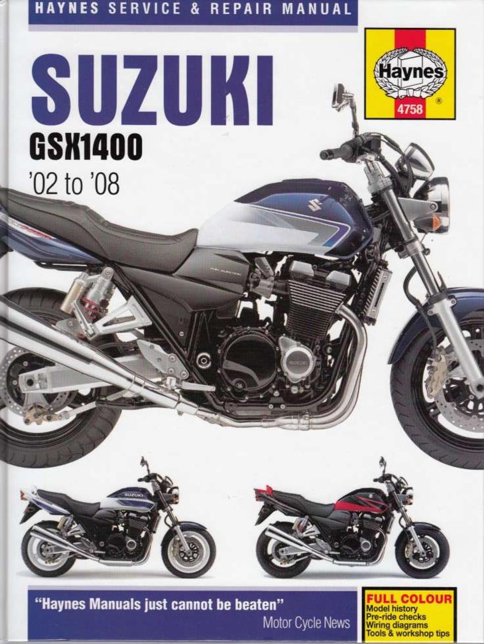 Super Suzuki Gsx1400 K2 K3 K4 K5 K6 K7 2002 2008 Workshop Manual Wiring 101 Ariotwise Assnl