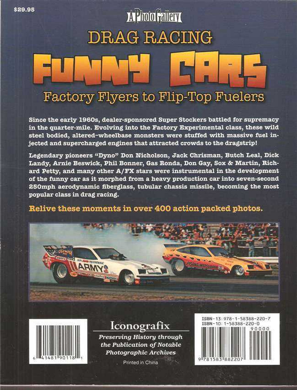 Drag Racing Funny Cars - Factory Flyers to Flip-Top Fuelers