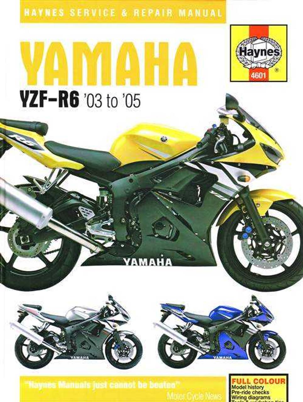 Yamaha YZF-R6 2003 - 2005 Workshop Manual