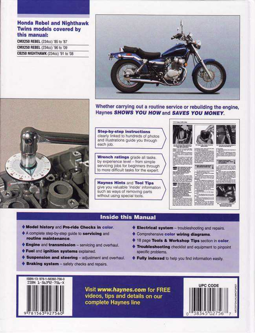 Admirable Honda Cmx250 Rebel Cb250 Nighthawk Twins 1985 2009 Workshop Manual Wiring Database Gramgelartorg