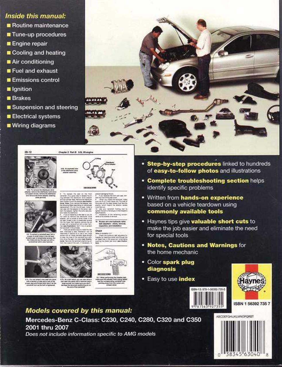 Mercedes - Benz C-Class C230, C240, C280, C320, C350 2001 - 2007 Workshop  Manual