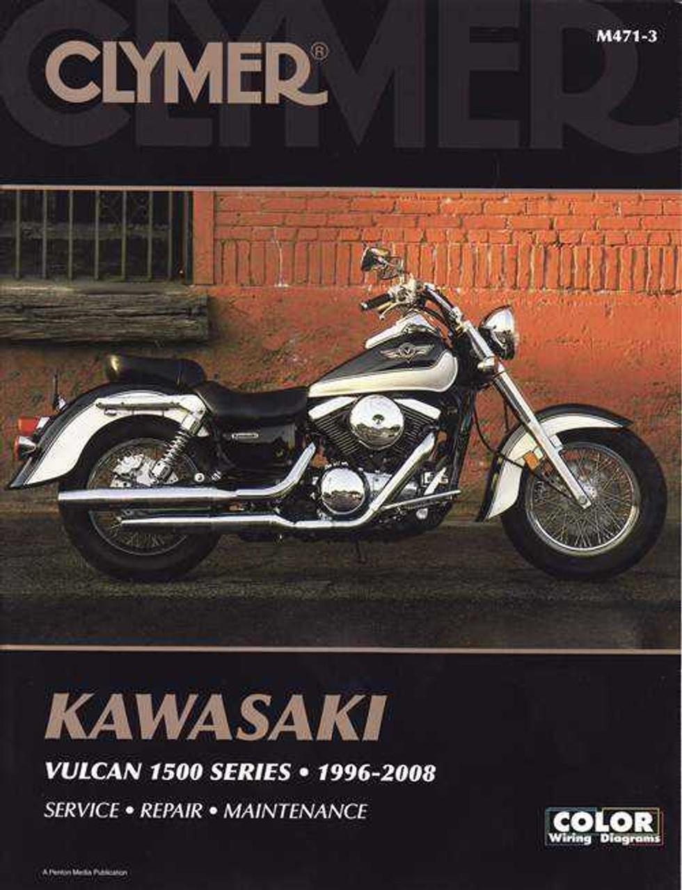 kawasaki vulcan 1500 series classic, drifter, nomad 1996 - 2008 workshop  manual